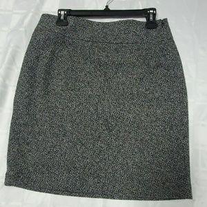 Ann Taylor Black White pencil Skirt